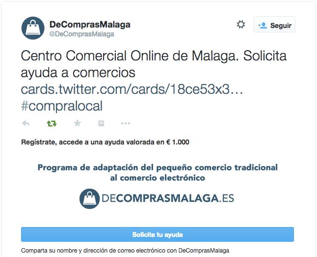 DeComprasMalaga en Twitter Centro Comercial Online de Malaga. Solicita ayuda a comercios https t.co H7df3HowW9 compralocal