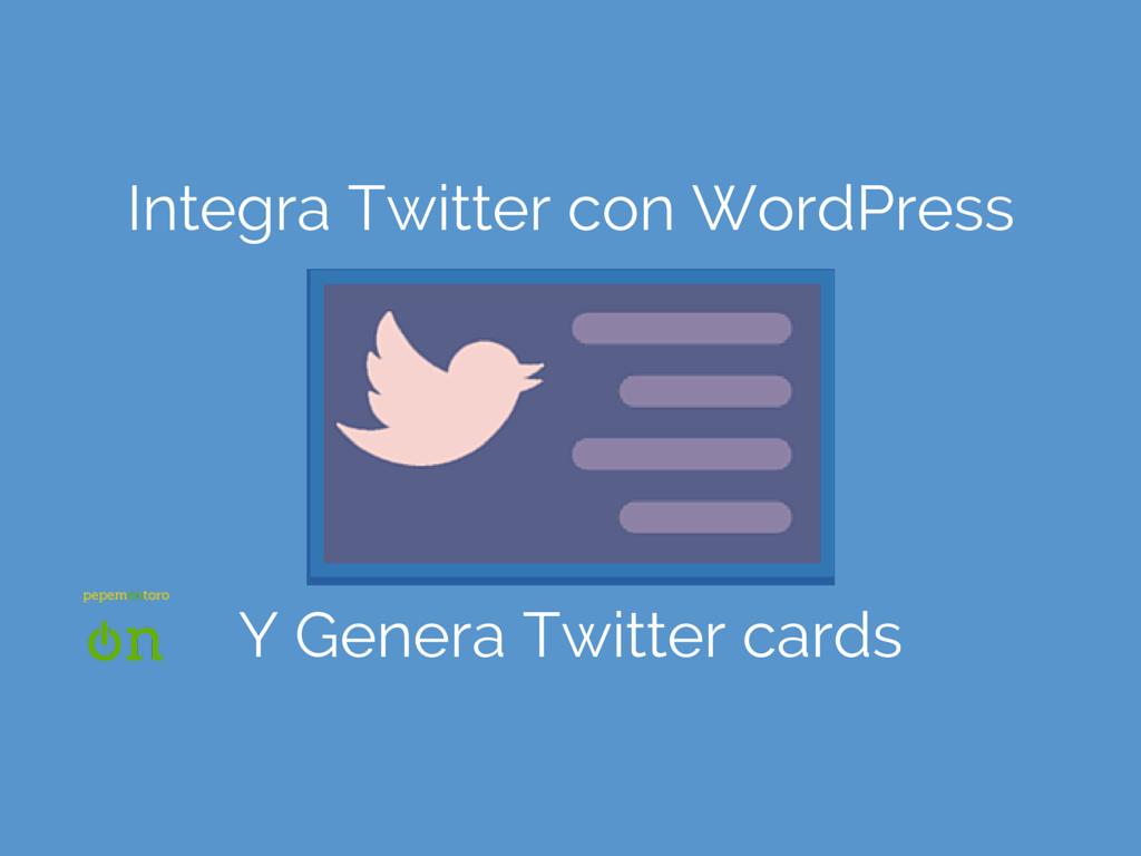 Integra Twitter con WordPress