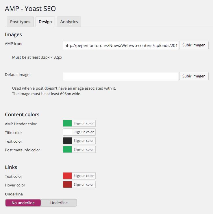 AMP Yoast SEO ‹ pepemontoro — WordPress