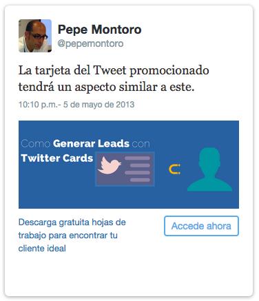 Tarjeta hojas de trabajo Twitter Ads10